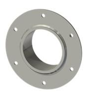 Гильза стальная с фланцем SLFR 100114/101-55мм AISI 316