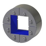 Набор резино-металл. зажима R 125 W Ex AISI 316/primed