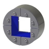 Набор резино-метал. зажима R 125 W Ex AISI 316/primed