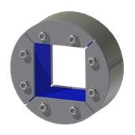 Набор резино-метал. зажима R 150 W Ex AISI 316/primed