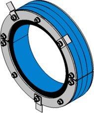 Резино-метал. зажим RS 300 AISI 316 woc в комплекте
