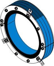 Резино-метал. зажим RS 350 AISI 316 woc в комплекте