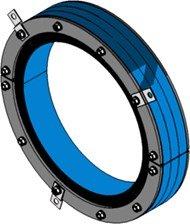 Резино-метал. зажим RS 400 AISI 316 woc в комплекте