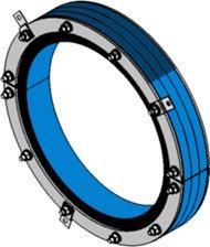 Резино-метал. зажим RS 450 AISI 316 woc в комплекте