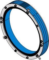 Резино-метал. зажим RS 550 AISI 316 woc в комплекте