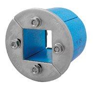 Резино-метал. зажим R 75 AISI 316 в комплекте