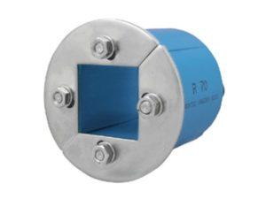 Резино-метал. зажим R 70 AISI 316 в комплекте