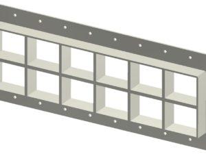 Стальная рама G 2+2x6 Ex primed