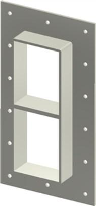 Стальная рама GHM 4+4x1 AISI316 в комплекте с лентой TSL 15x6