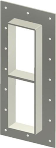 Стальная рама GHM 6+6x1 гальв. в комплекте с лентой TSL 15x6