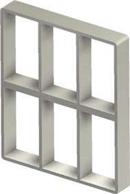 Стальная рама S 6+6x3 Ex PRIMED