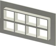 Стальная рама SF 2+2x4 W Ex PRIMED