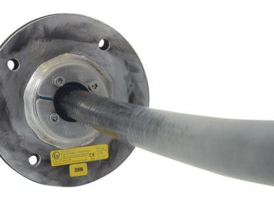 Гермоввод одиночный для ввода в вакуумную камеру