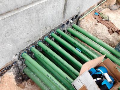 Подземный ввод водопровода в дом