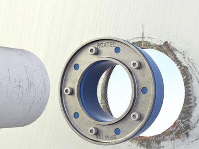 Монтаж герметичной гильзы в стене