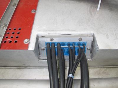 Ввод 12 кабелей
